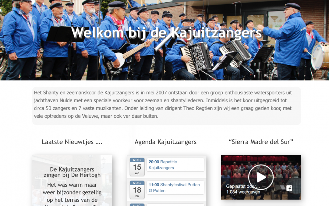Nieuwe website Kajuitzangers