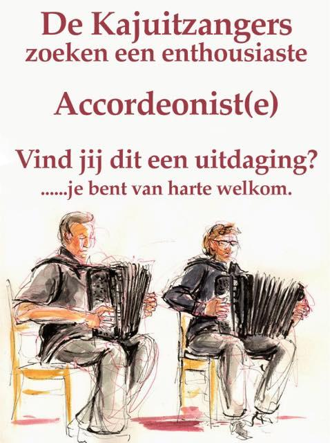 De Kajuitzangers zoeken een enthousiaste accordeonist(e)