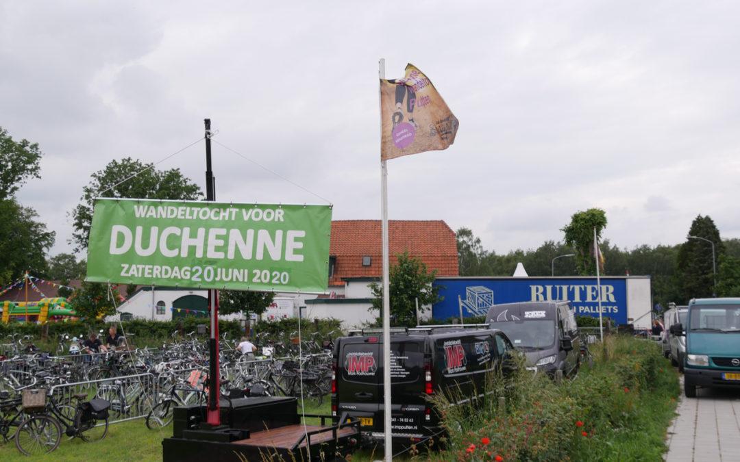 Optreden voor de wandeltocht voor Duchenne